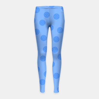 Thumbnail image of Dots With Points Light Blue Girl's leggings, Live Heroes