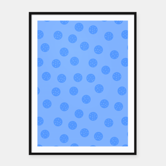 Thumbnail image of Dots With Points Light Blue Framed poster, Live Heroes