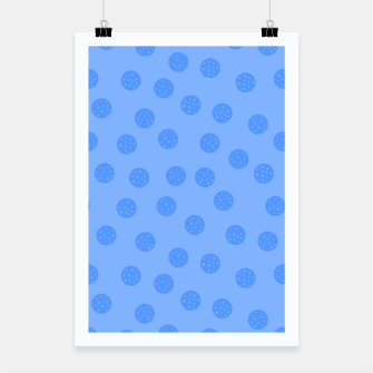 Thumbnail image of Dots With Points Light Blue Poster, Live Heroes