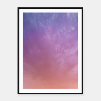 Miniatur Colorful sky Framed poster, Live Heroes