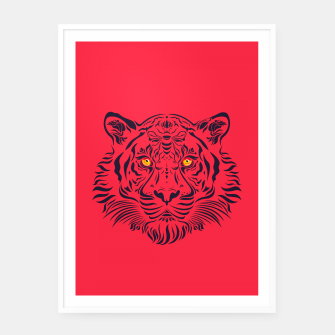 Thumbnail image of Red Tiger by #Bizzartino Framed poster, Live Heroes