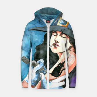 Thumbnail image of the witch Zip up hoodie, Live Heroes