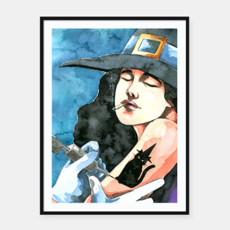 Thumbnail image of the witch Framed poster, Live Heroes