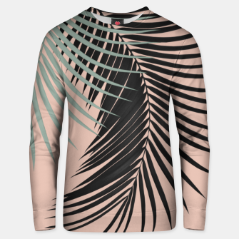 Palm Leaves Black Soft Green Pale Terracotta Vibes #1 #tropical #decor #art Unisex sweatshirt obraz miniatury