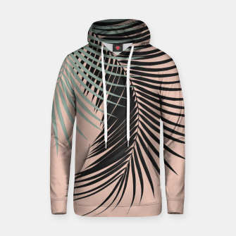 Miniatur Palm Leaves Black Soft Green Pale Terracotta Vibes #1 #tropical #decor #art Kapuzenpullover, Live Heroes