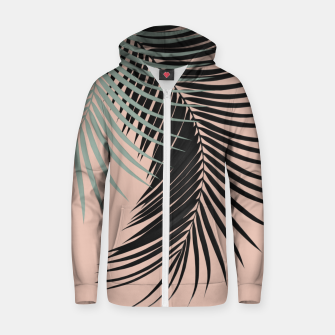 Palm Leaves Black Soft Green Pale Terracotta Vibes #1 #tropical #decor #art Reißverschluss kapuzenpullover obraz miniatury