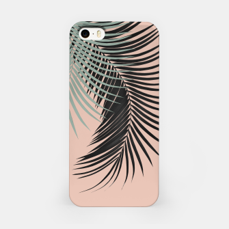 Miniaturka Palm Leaves Black Soft Green Pale Terracotta Vibes #1 #tropical #decor #art iPhone-Hülle, Live Heroes