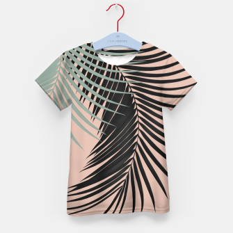 Miniaturka Palm Leaves Black Soft Green Pale Terracotta Vibes #1 #tropical #decor #art T-Shirt für kinder, Live Heroes