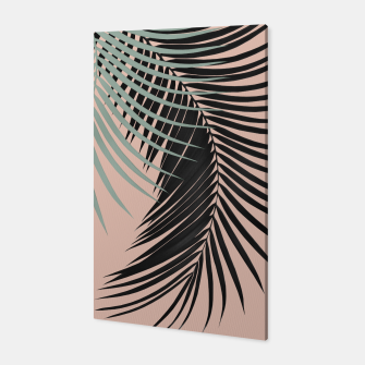 Miniatur Palm Leaves Black Soft Green Pale Terracotta Vibes #1 #tropical #decor #art Canvas, Live Heroes