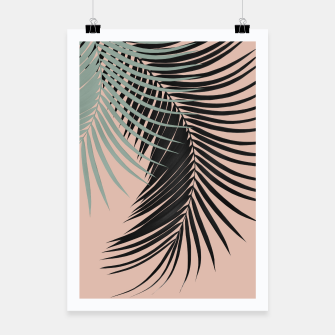 Miniature de image de Palm Leaves Black Soft Green Pale Terracotta Vibes #1 #tropical #decor #art Plakat, Live Heroes