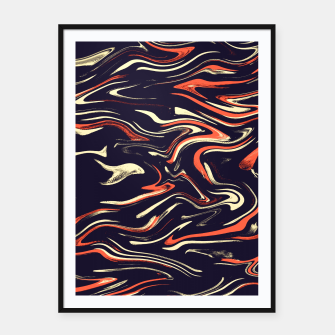Miniatur Tiger stripes Framed poster, Live Heroes