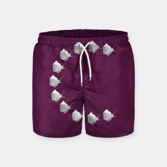 Miniatur C Mouth Mask Swim Shorts, Live Heroes