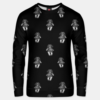 Miniatur Creepy Skull Doll Artwork Unisex sweater, Live Heroes