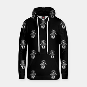Miniatur Creepy Skull Doll Artwork Hoodie, Live Heroes