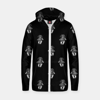 Miniatur Creepy Skull Doll Artwork Zip up hoodie, Live Heroes
