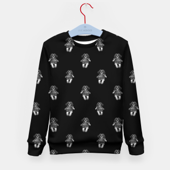 Miniature de image de Creepy Skull Doll Artwork Kid's sweater, Live Heroes