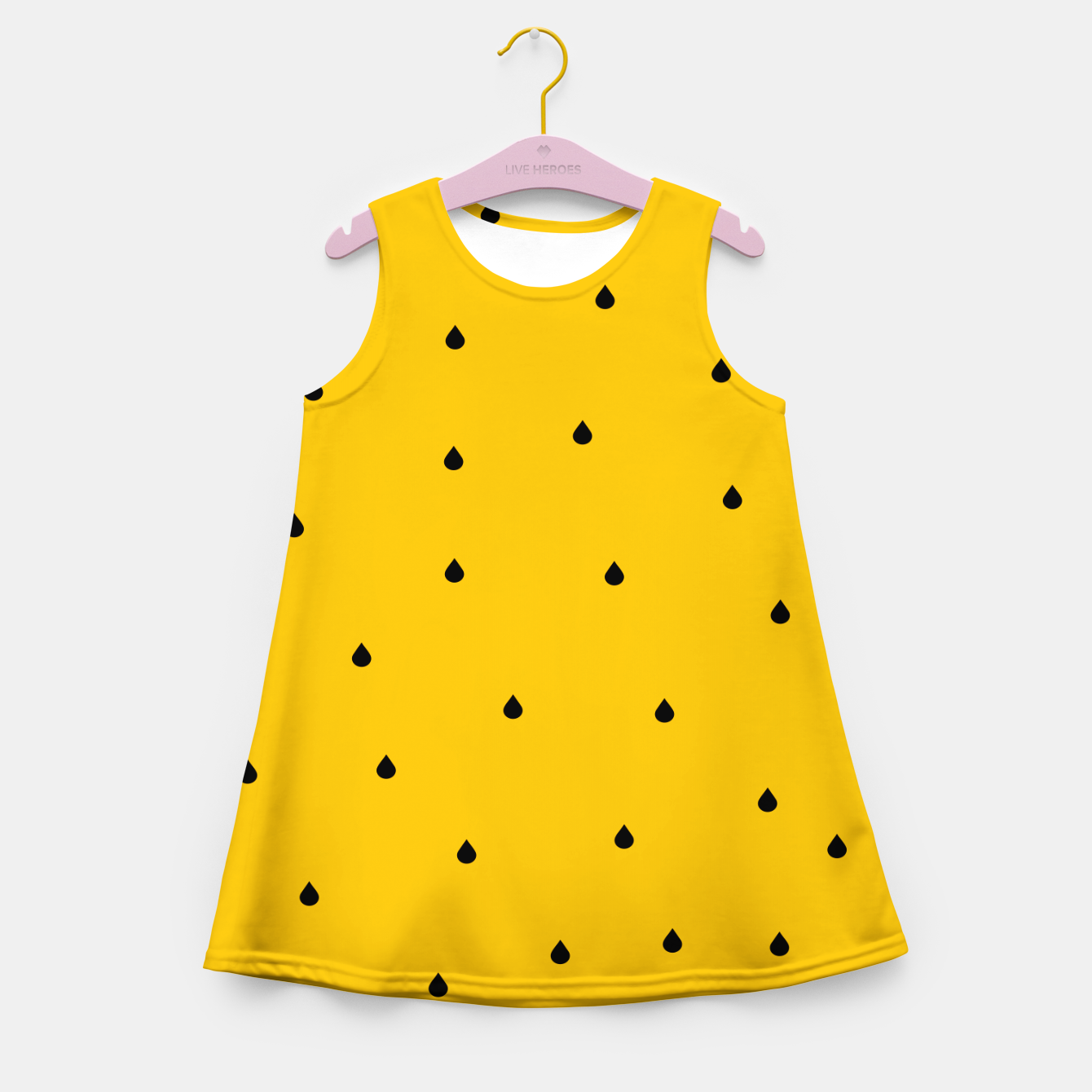 Image of A Piece Of Yellow Watermelon Girl's summer dress - Live Heroes