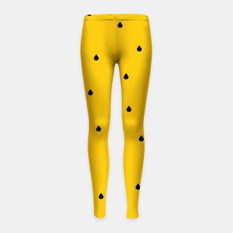 Thumbnail image of A Piece Of Yellow Watermelon Girl's leggings, Live Heroes