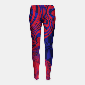 Miniature de image de Optical illusion 001 Girl's leggings, Live Heroes