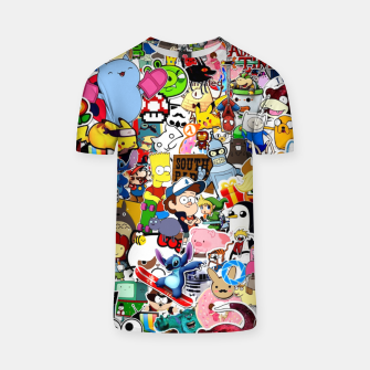 Miniatur Cartoon Doodles T-shirt, Live Heroes