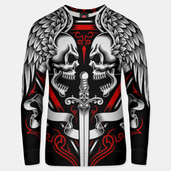 Thumbnail image of Skull Wing Unisex sweater, Live Heroes