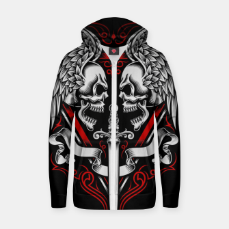 Thumbnail image of Skull Wing Zip up hoodie, Live Heroes