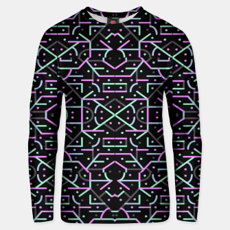 Thumbnail image of Futuristic Linear Geometric Pattern Unisex sweater, Live Heroes