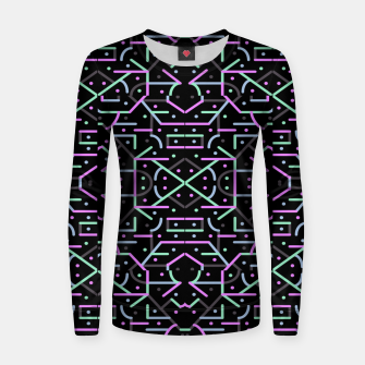 Thumbnail image of Futuristic Linear Geometric Pattern Women sweater, Live Heroes