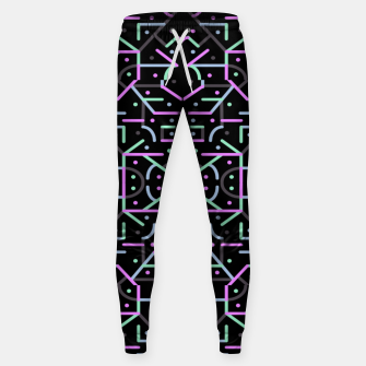Thumbnail image of Futuristic Linear Geometric Pattern Sweatpants, Live Heroes