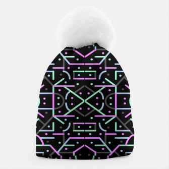 Thumbnail image of Futuristic Linear Geometric Pattern Beanie, Live Heroes