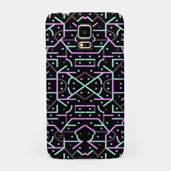 Thumbnail image of Futuristic Linear Geometric Pattern Samsung Case, Live Heroes