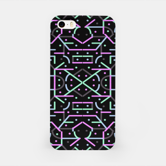 Thumbnail image of Futuristic Linear Geometric Pattern iPhone Case, Live Heroes