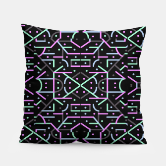Thumbnail image of Futuristic Linear Geometric Pattern Pillow, Live Heroes
