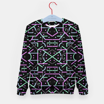 Thumbnail image of Futuristic Linear Geometric Pattern Kid's sweater, Live Heroes