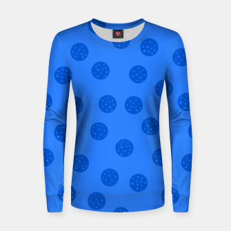 Thumbnail image of Dots With Points Blue Women sweater, Live Heroes