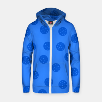 Thumbnail image of Dots With Points Blue Zip up hoodie, Live Heroes