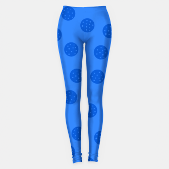 Thumbnail image of Dots With Points Blue Leggings, Live Heroes