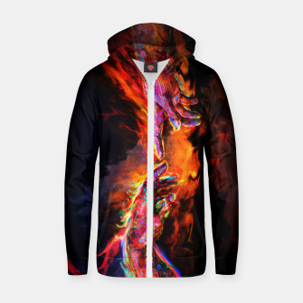 Miniatur the creation of adam michelangelo Zip up hoodie, Live Heroes
