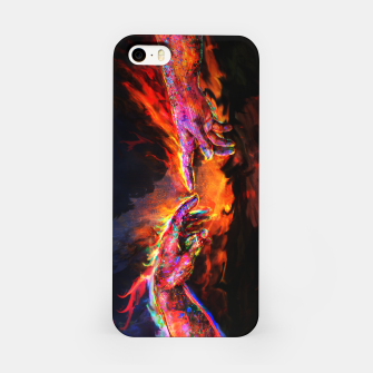Miniatur the creation of adam michelangelo iPhone Case, Live Heroes
