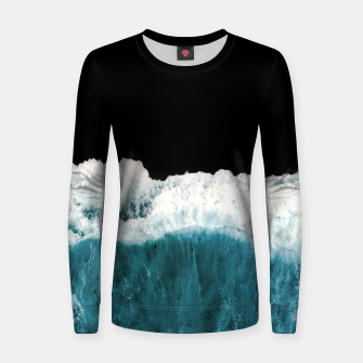 Thumbnail image of Deep Black Sea Women sweater, Live Heroes