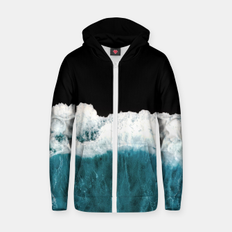 Thumbnail image of Deep Black Sea Zip up hoodie, Live Heroes