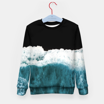 Thumbnail image of Deep Black Sea Kid's sweater, Live Heroes