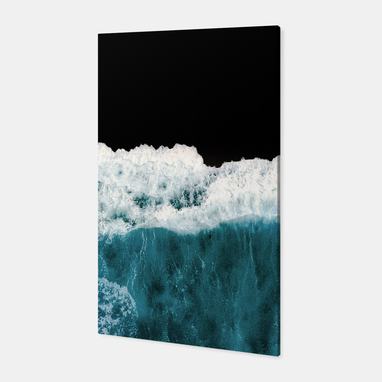 Image of Deep Black Sea Canvas - Live Heroes