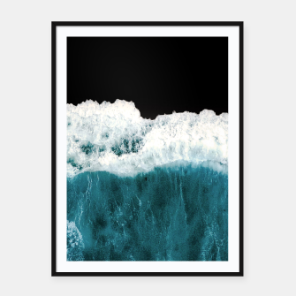 Thumbnail image of Deep Black Sea Framed poster, Live Heroes