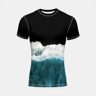 Thumbnail image of Deep Black Sea Shortsleeve rashguard, Live Heroes
