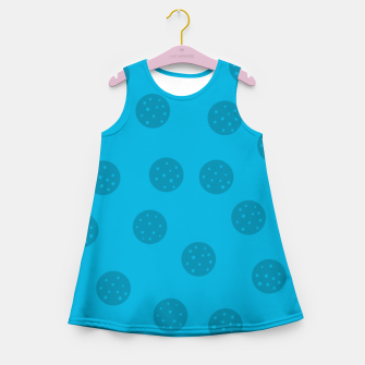 Thumbnail image of Dots With Points Blue Girl's summer dress, Live Heroes