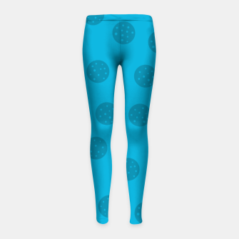 Thumbnail image of Dots With Points Blue Girl's leggings, Live Heroes