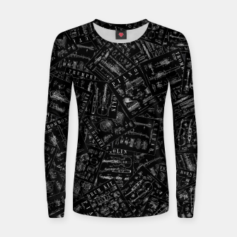 Thumbnail image of Musical Instrument Vintage Patent Pattern Women sweater, Live Heroes