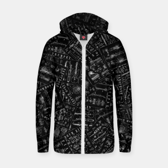 Thumbnail image of Musical Instrument Vintage Patent Pattern Zip up hoodie, Live Heroes