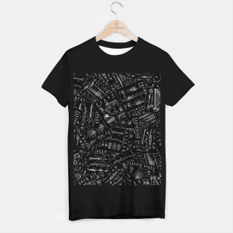 Miniatur Musical Instrument Vintage Patent Pattern T-shirt regular, Live Heroes